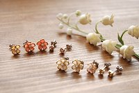 ピアス flower dew set
