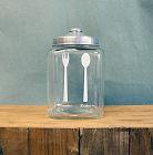 スプーンとフォーク柄の瓶
