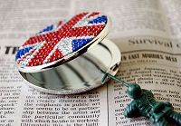 Line Stone Compact Mirror UK Flag