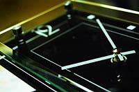 長角ガラス振り子時計